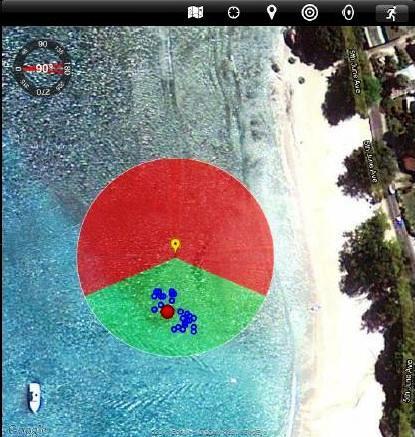 Vista de la aplicación en modo mapa. Fuente TGA