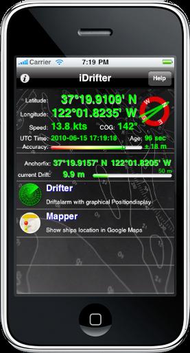 Vista inicial del la aplicación. Fuente GTA