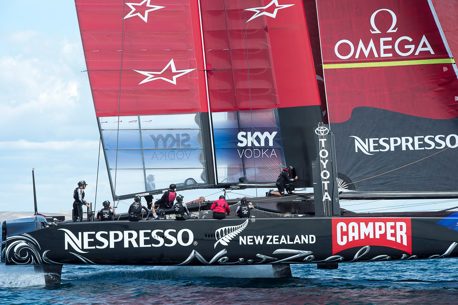 Emirates Team New Zealand en Louis Vuitton Cup