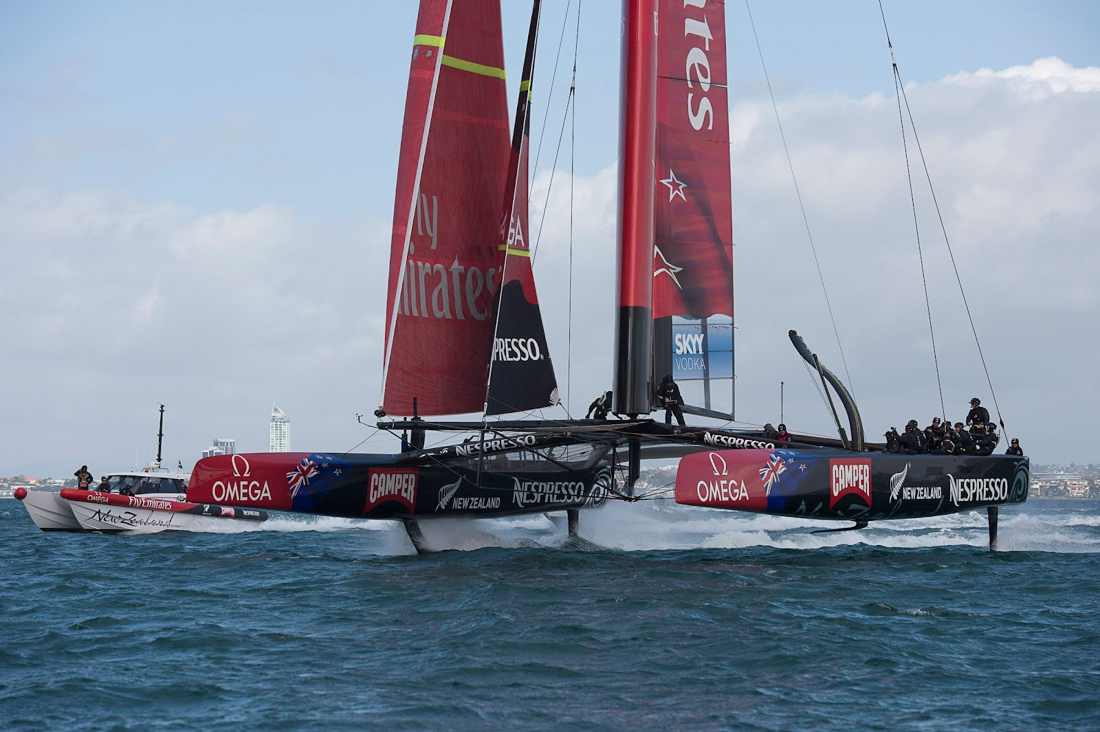 Emirates Team copa américa 2013 New Zealand. Fuente VSail