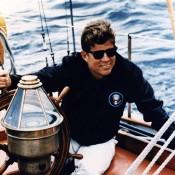JFK en el Manitou. Fuente JFK Library