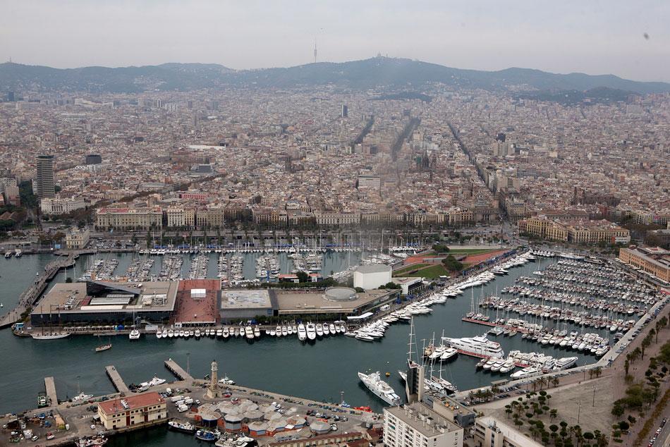 salón náutico barcelona vista aerea