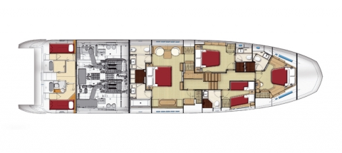 Azimut 80. Disposición General