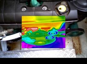 Termografía en un motor
