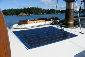 Panel solar en base de palo