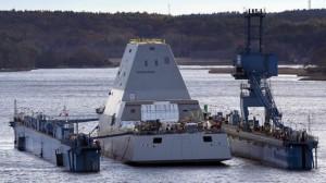 USS ZUMWALT EN DIQUE FLOTANTE
